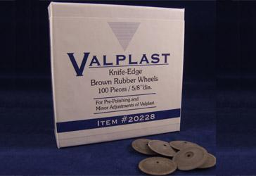 Knife-Edge Brown Rubber Wheels